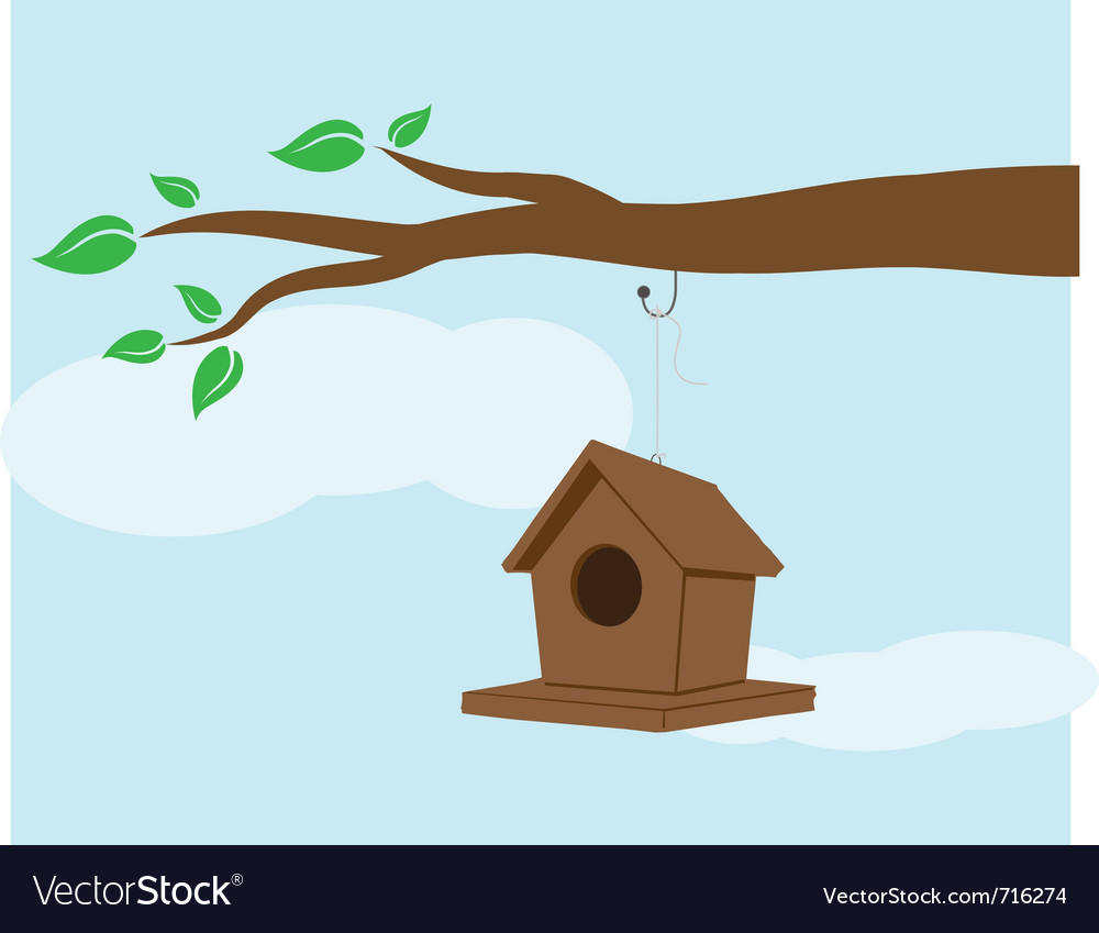 Bird house vector | Price: 1 Credit (USD $1)