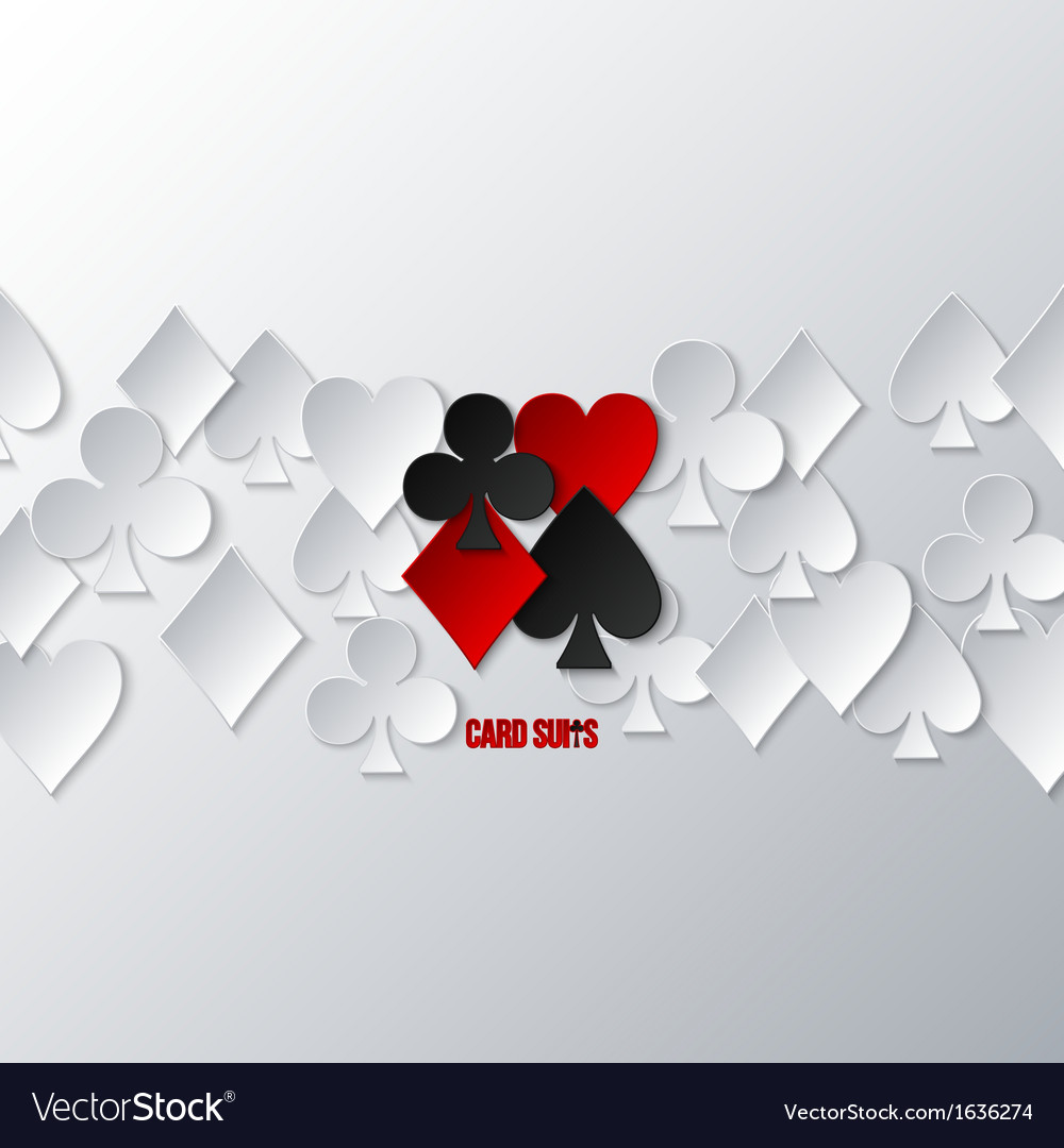 Casino card suits vector | Price: 1 Credit (USD $1)