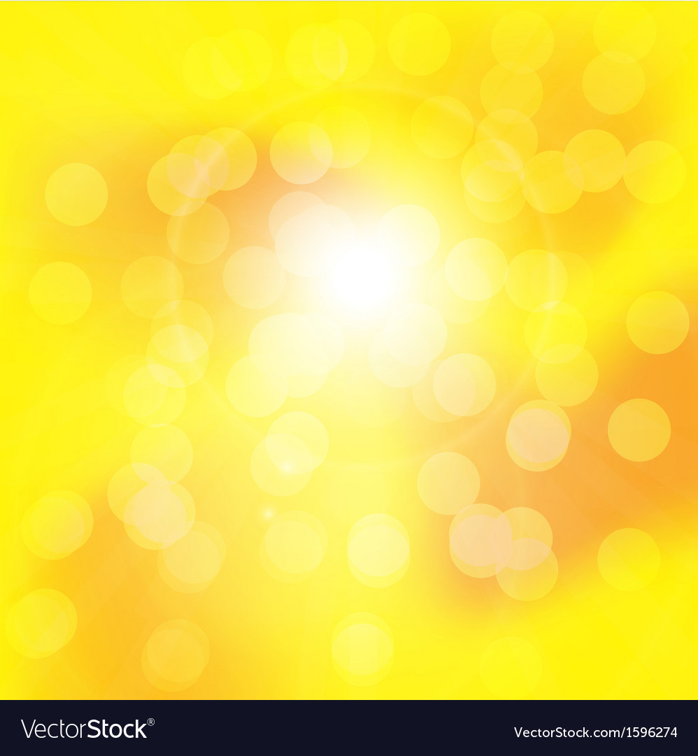 Centered yellow orange summer sun light burst vector | Price: 1 Credit (USD $1)