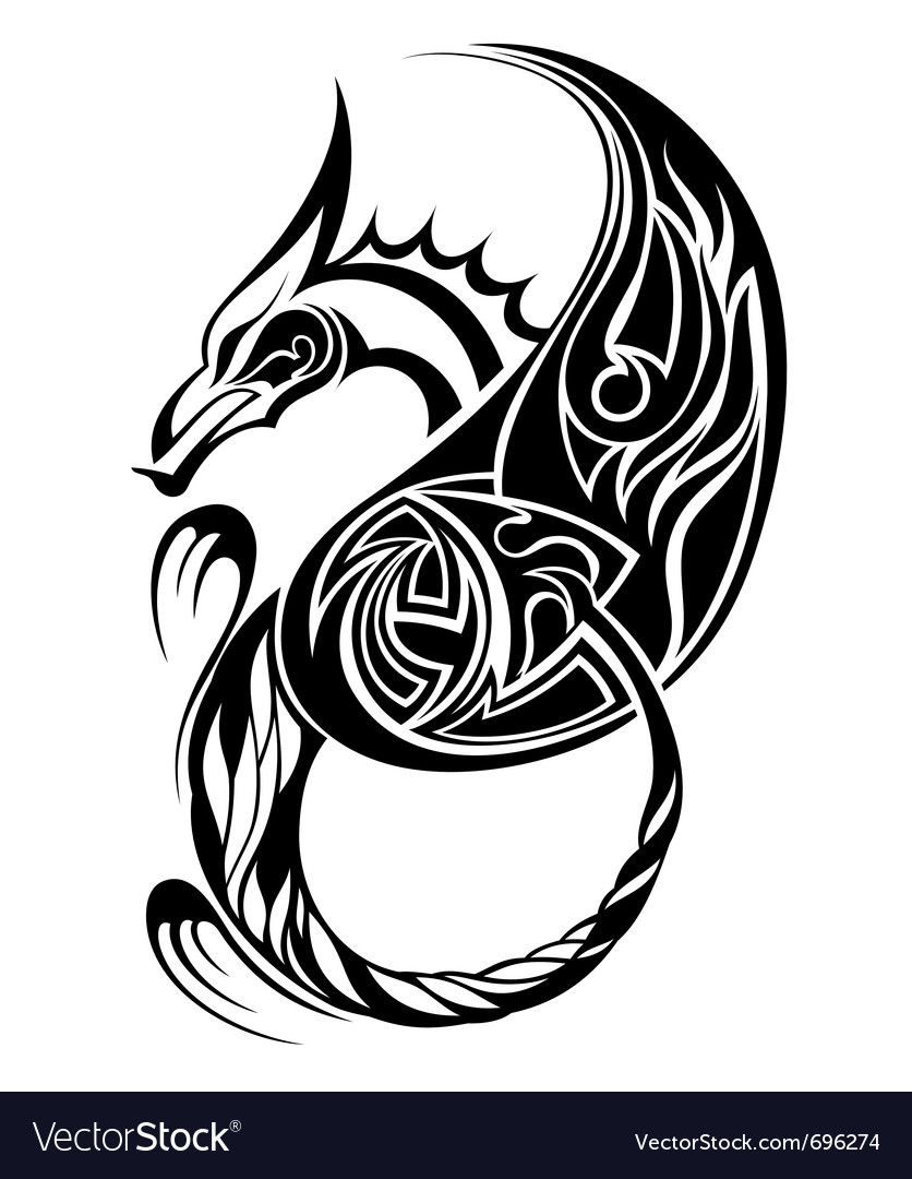 Dragon tatoo vector | Price: 1 Credit (USD $1)