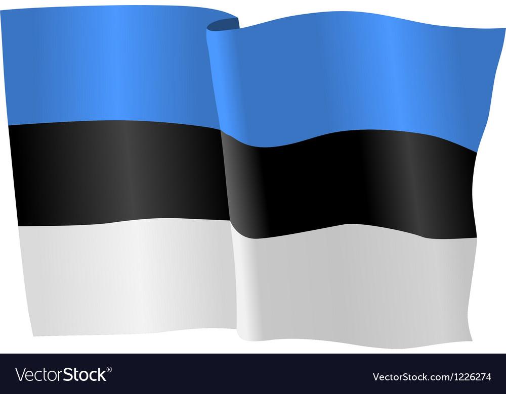 Flag of estonia vector | Price: 1 Credit (USD $1)