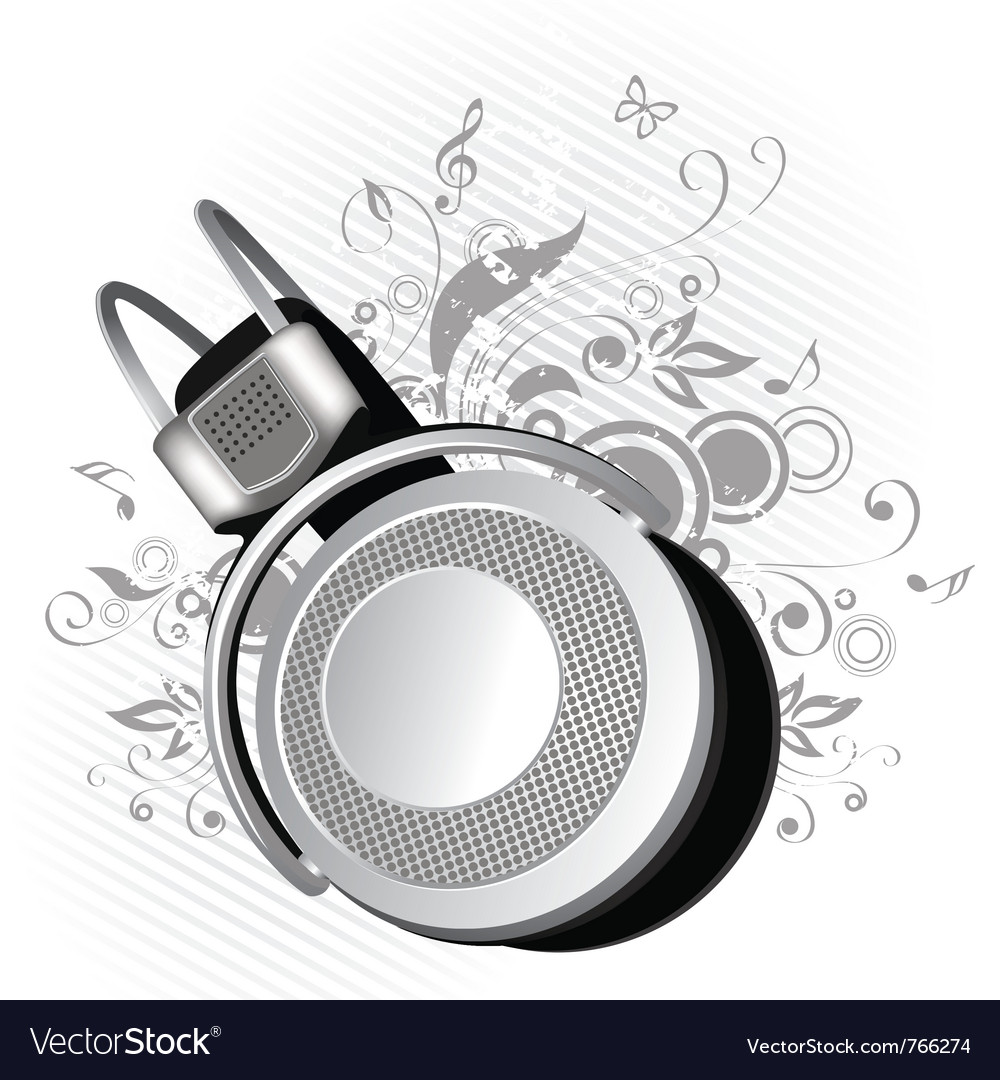 Headphones on a background vector | Price: 1 Credit (USD $1)