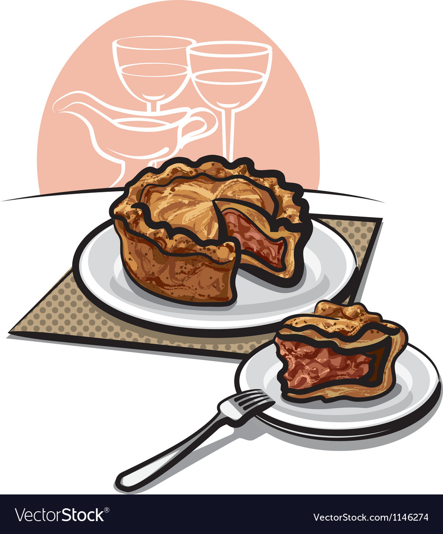 Home baked pork pie vector | Price: 3 Credit (USD $3)