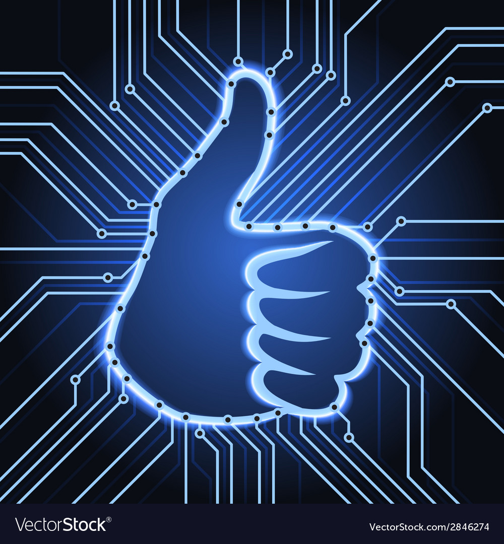 Like sign electronics vector | Price: 1 Credit (USD $1)