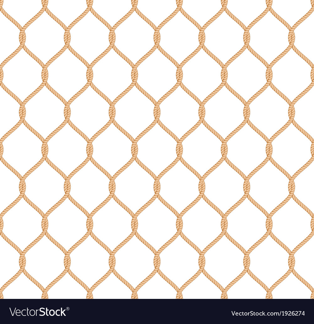 Rope marine net pattern vector