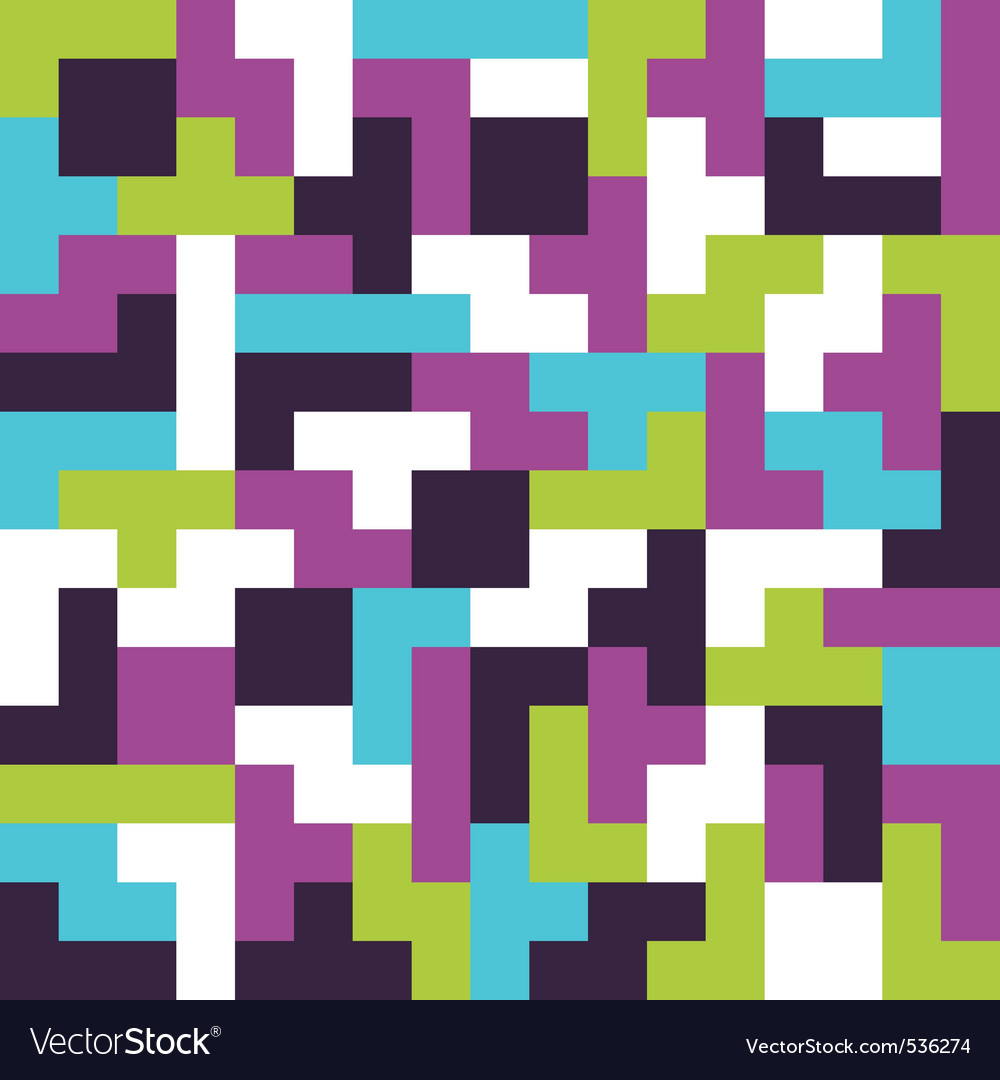 Seamless background tetris game vector | Price: 1 Credit (USD $1)
