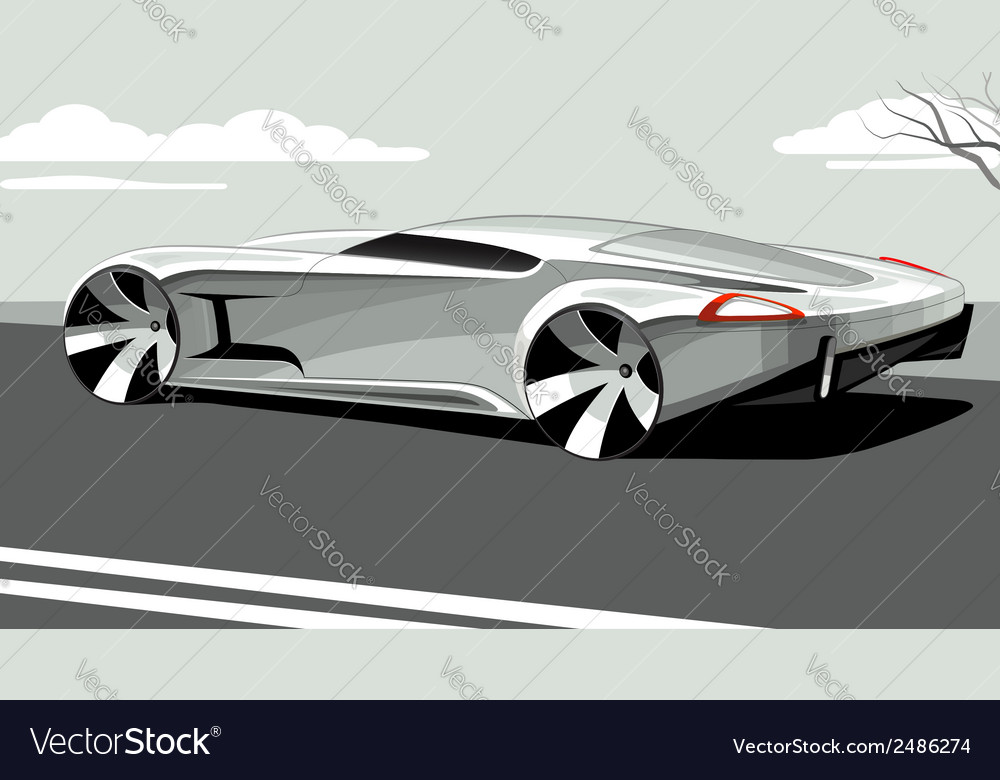 Sports car isolated on neutral background vector | Price: 1 Credit (USD $1)