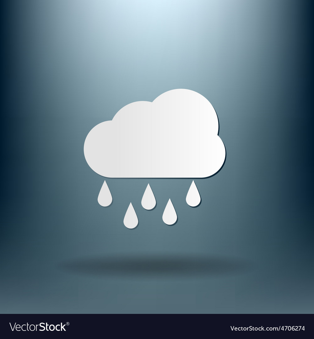 Weather icon cloud rain vector | Price: 1 Credit (USD $1)