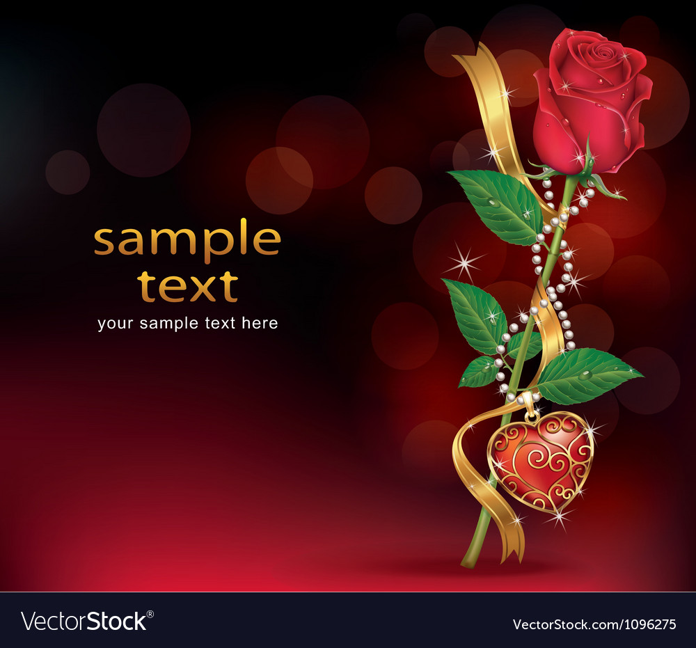 Beautiful roses with ribbon and necklet vector | Price: 1 Credit (USD $1)