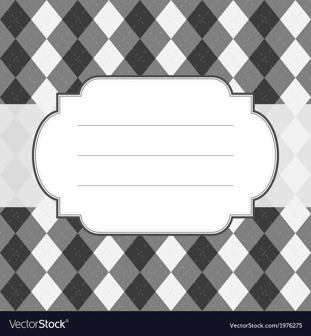 Classic style argyle background vector | Price: 1 Credit (USD $1)