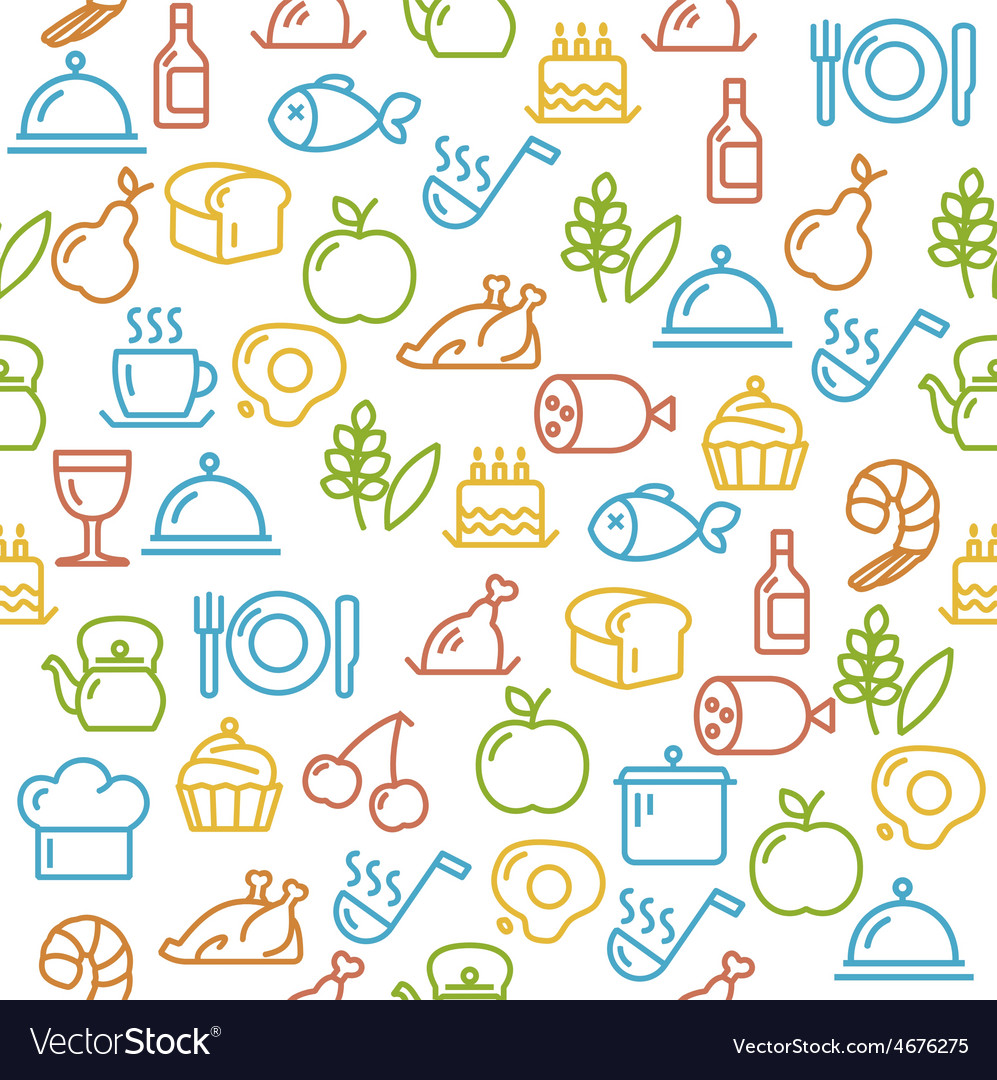 Cooking concept outline vector | Price: 1 Credit (USD $1)