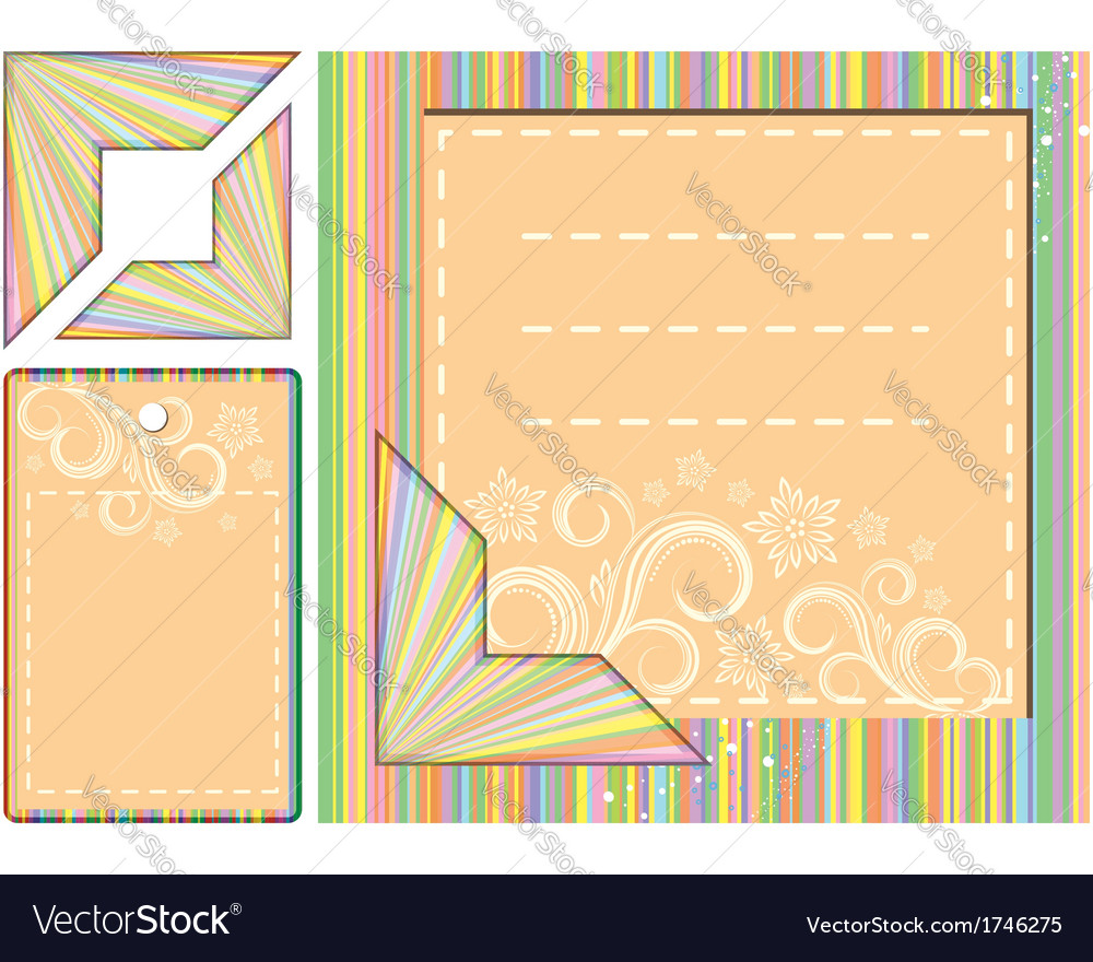 Geometric pattern card and tag design vector