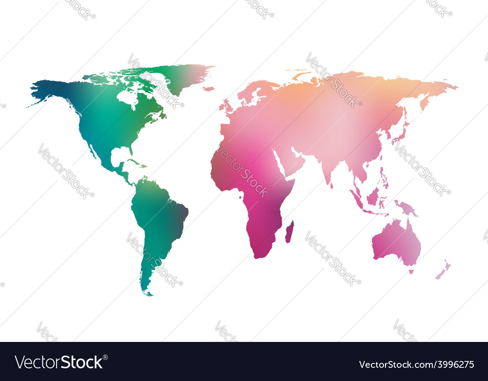 Gradient world map vector | Price: 1 Credit (USD $1)