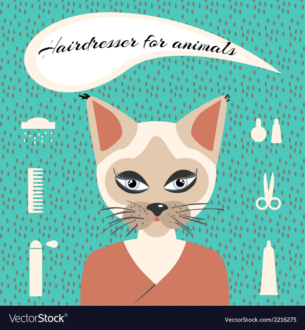 Hairdresser for animals vector | Price: 1 Credit (USD $1)