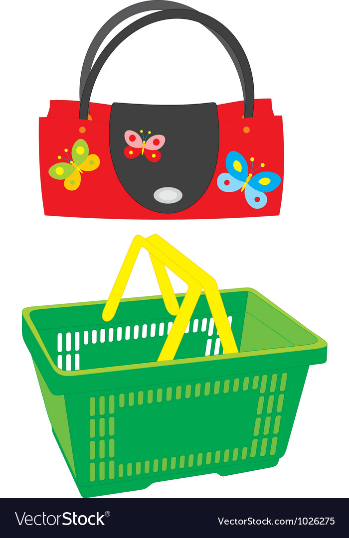 Handbag and market basket vector | Price: 1 Credit (USD $1)