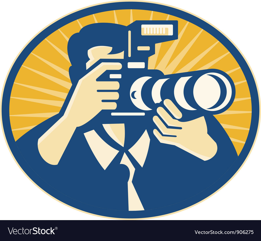 Photographer dslr vector | Price: 3 Credit (USD $3)