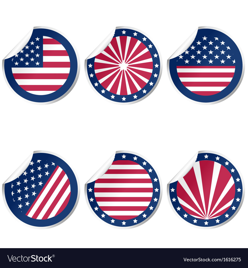 Rubber stamps with usa flag vector | Price: 1 Credit (USD $1)