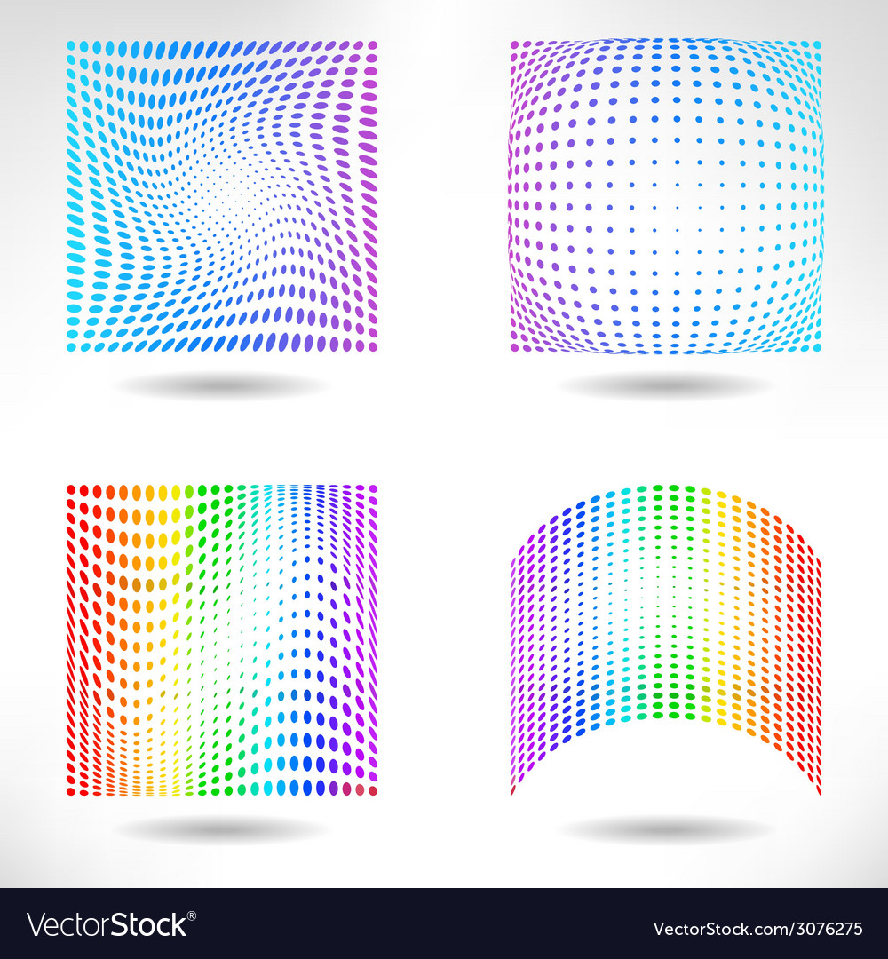Set of modern flat halftone backgrounds vector | Price: 1 Credit (USD $1)