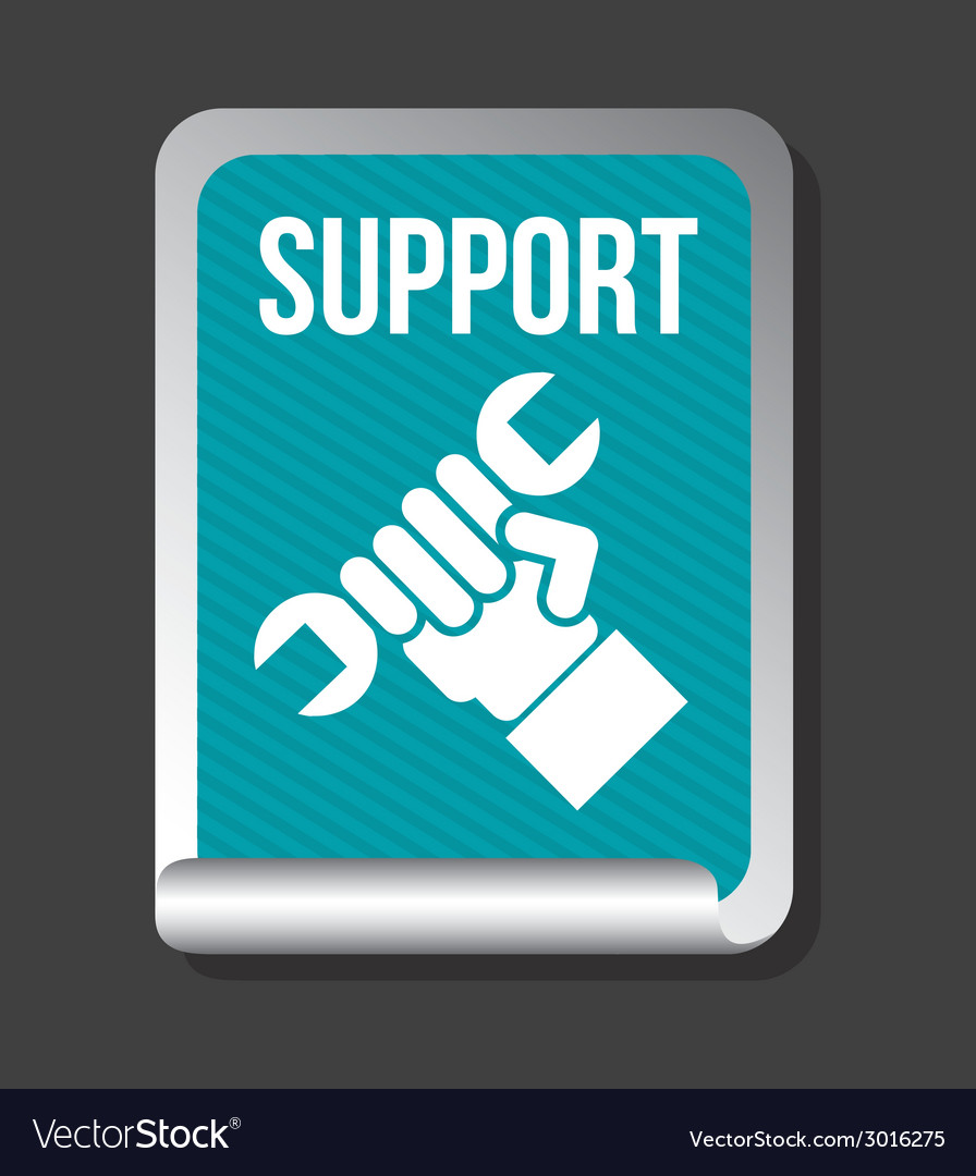 Support design vector | Price: 1 Credit (USD $1)