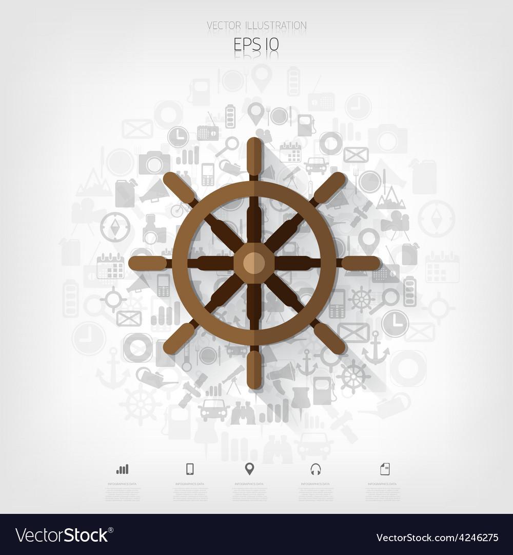 Wheel web iconbackground wit application symbols vector | Price: 1 Credit (USD $1)