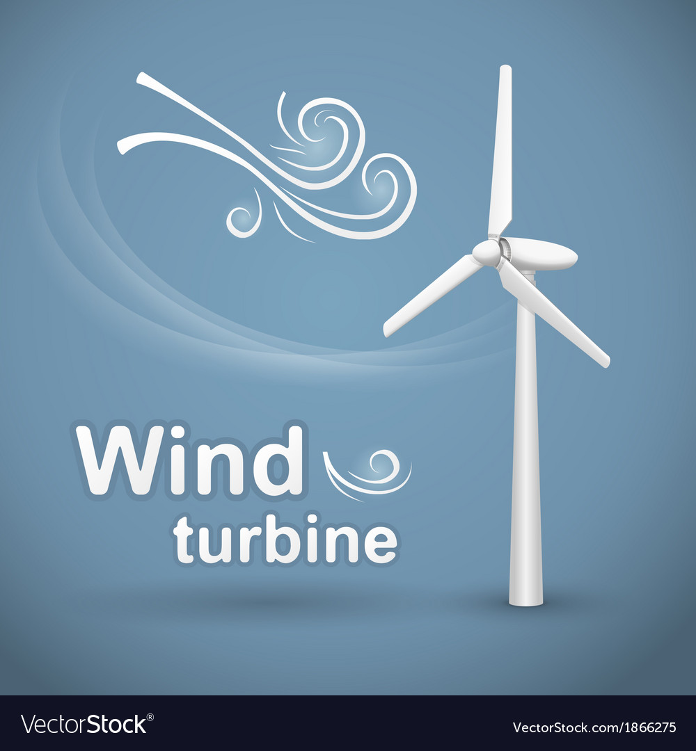 Wind turbine background vector | Price: 1 Credit (USD $1)