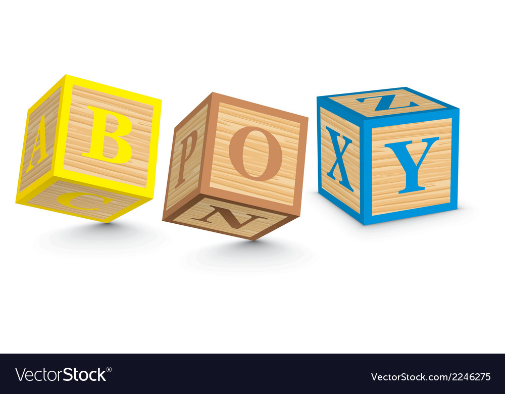 Word boy written with alphabet blocks vector | Price: 1 Credit (USD $1)