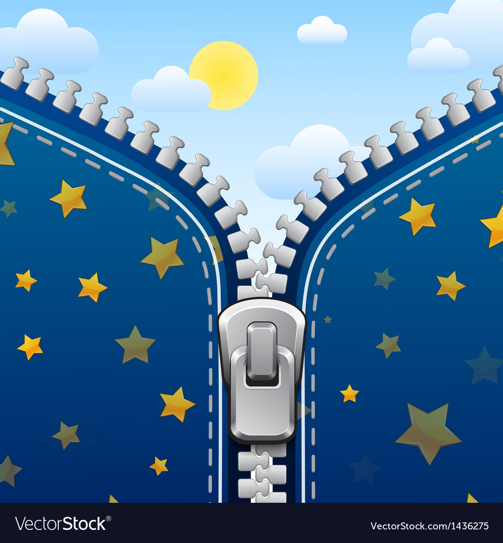 Zipper background night is changed with day vector | Price: 1 Credit (USD $1)