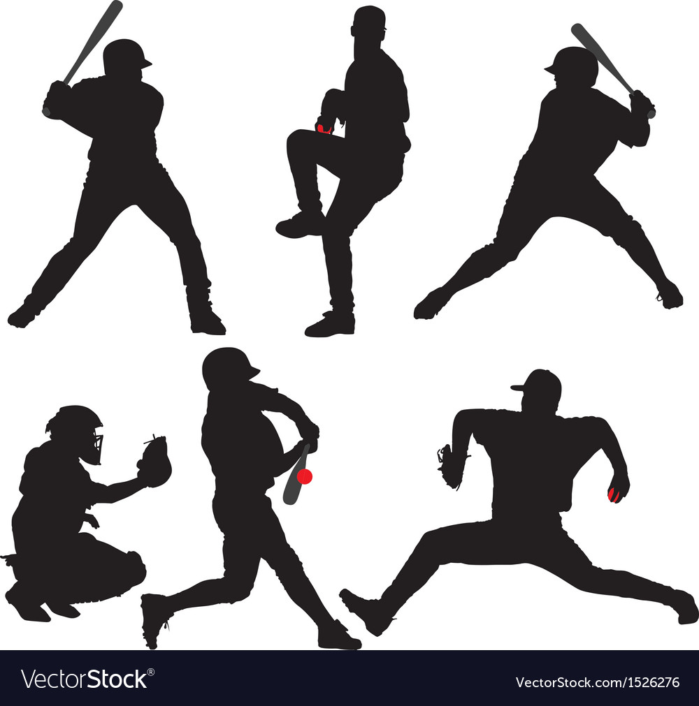 Baseball silhouette vector | Price: 1 Credit (USD $1)