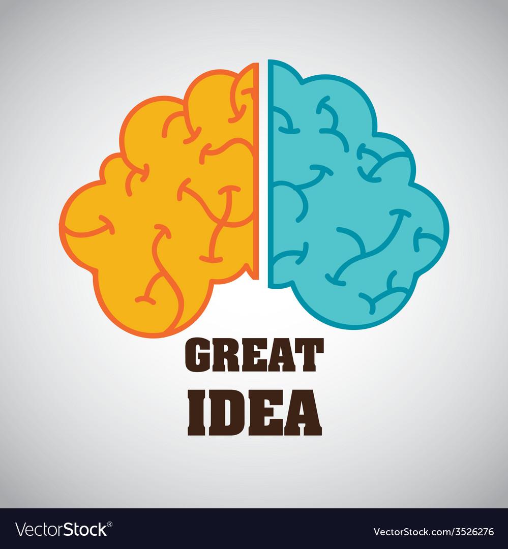 Creative brain design vector | Price: 1 Credit (USD $1)