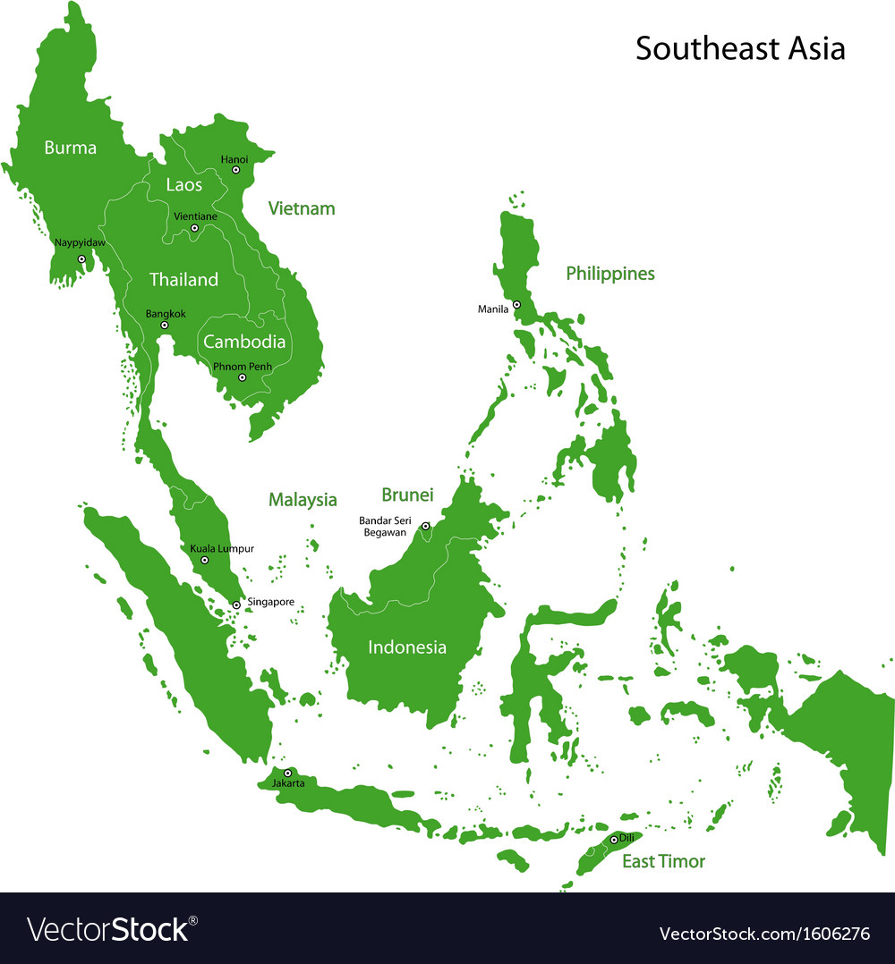 Green southeastern asia vector | Price: 1 Credit (USD $1)
