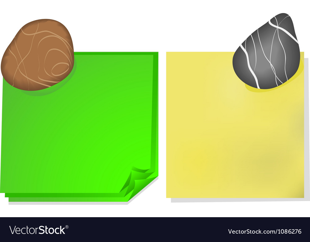 Note paper and a stone vector | Price: 1 Credit (USD $1)