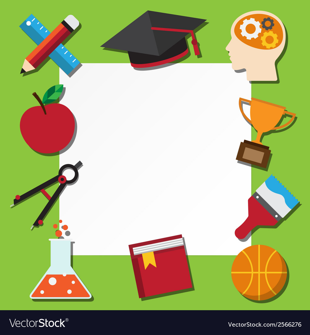 Paper note and school icons set vector   Price: 1 Credit (USD $1)