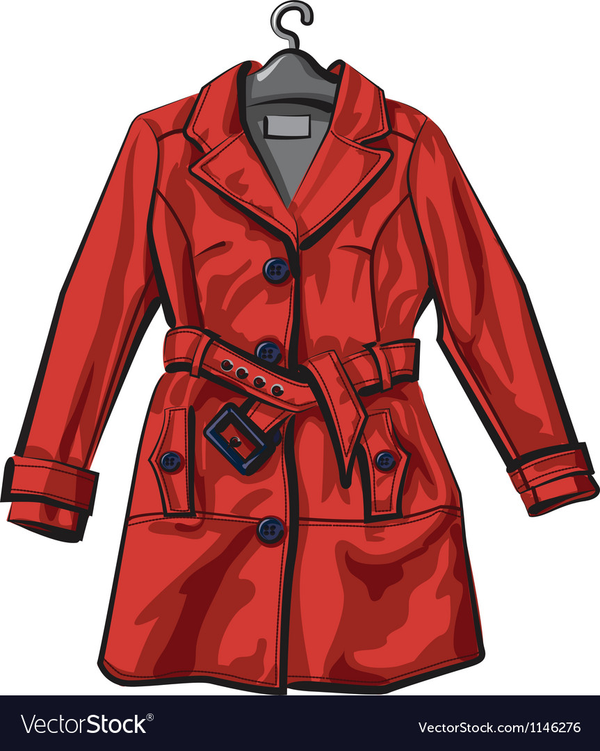 Red rain coat vector | Price: 3 Credit (USD $3)