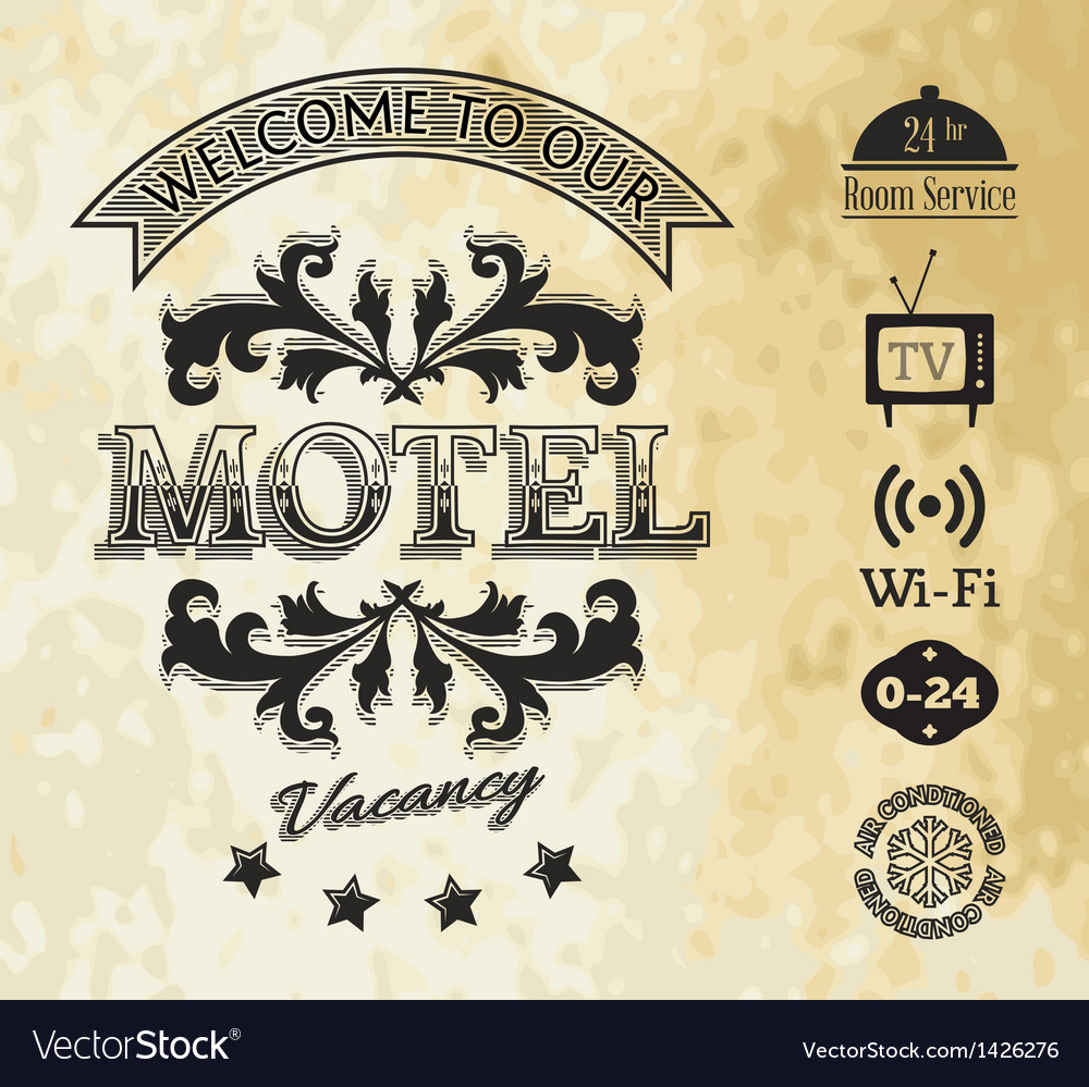 Retro styled motel background vector | Price: 1 Credit (USD $1)