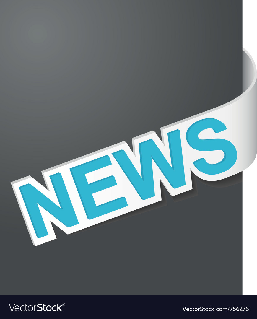Right side sign news vector | Price: 1 Credit (USD $1)