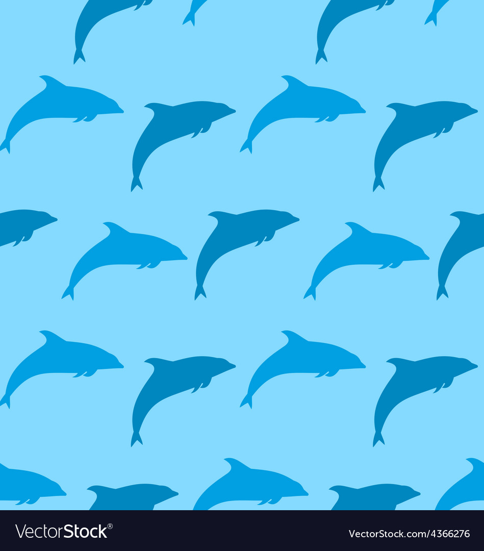 Seamless pattern with dolphin marine mammal animal vector | Price: 1 Credit (USD $1)