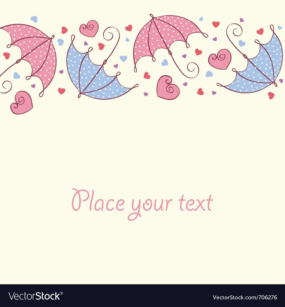 Umbrella love card vector | Price: 1 Credit (USD $1)