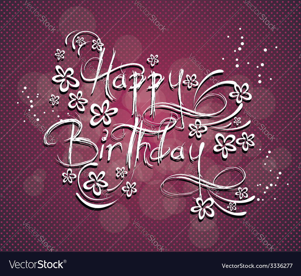 A happy birthday greeting card vector | Price: 1 Credit (USD $1)