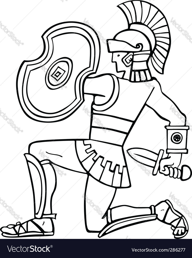 Ancient soldier vector