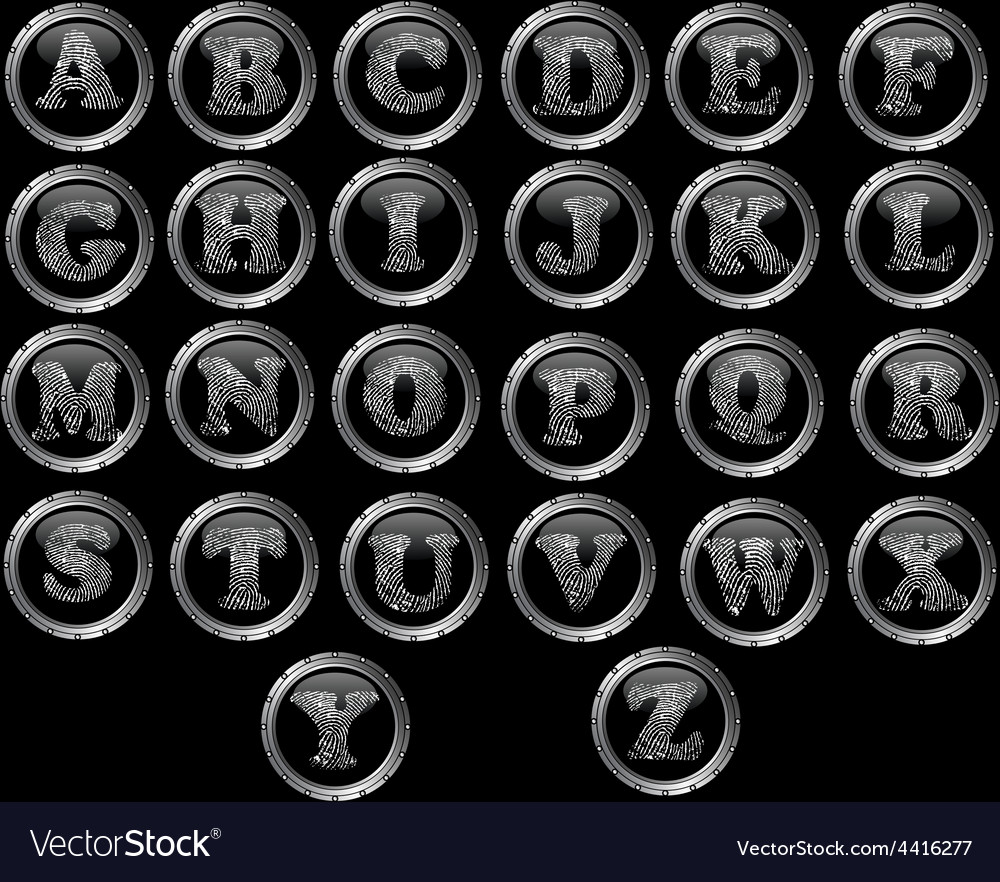 Black button alphabet - black web buttons with vector | Price: 1 Credit (USD $1)