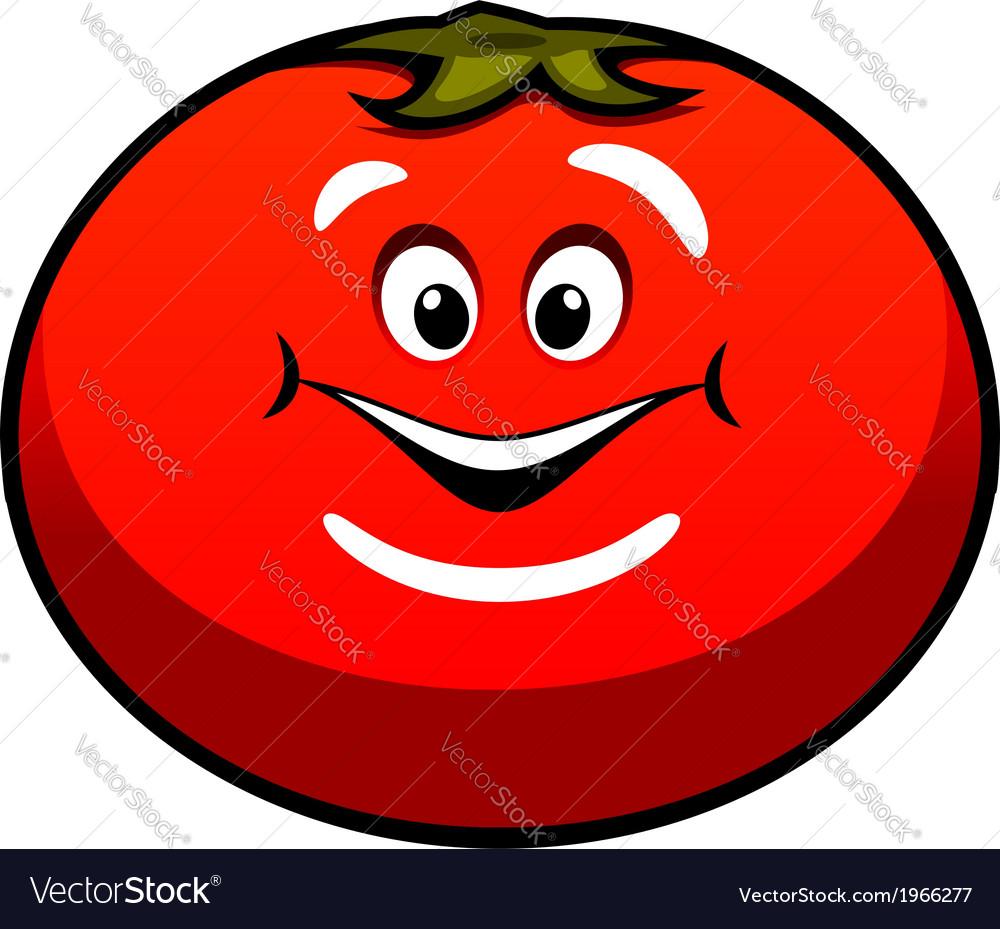 Cute fat juicy cartoon tomato vegetable vector | Price: 1 Credit (USD $1)