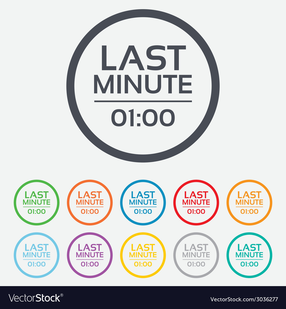 Last minute icon hot travel symbol vector | Price: 1 Credit (USD $1)