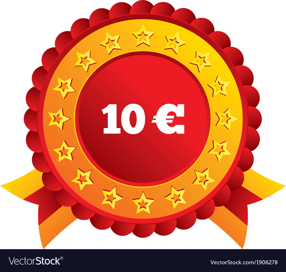 10 euro sign icon eur currency symbol vector | Price: 1 Credit (USD $1)