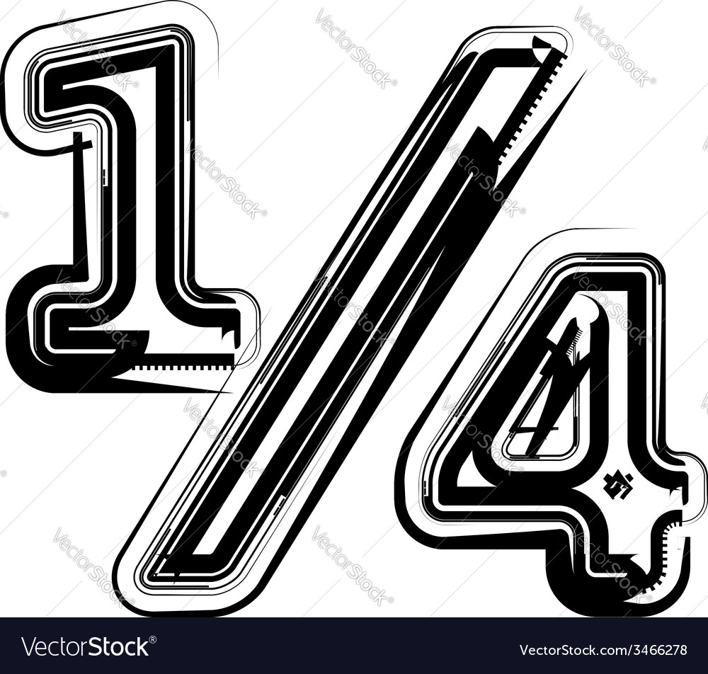 Abstract quarters sign vector | Price: 1 Credit (USD $1)