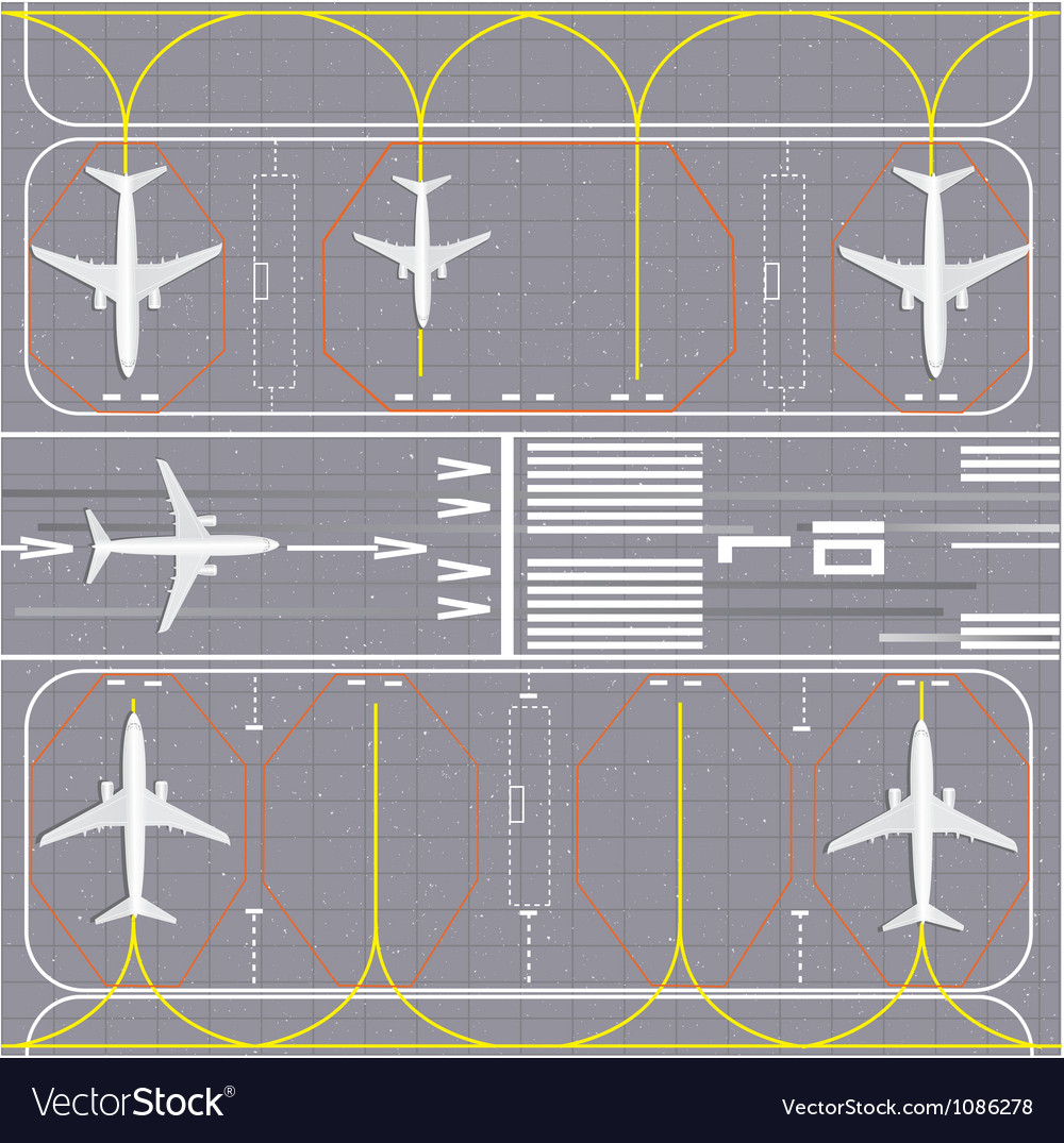 Airport layout vector | Price: 1 Credit (USD $1)