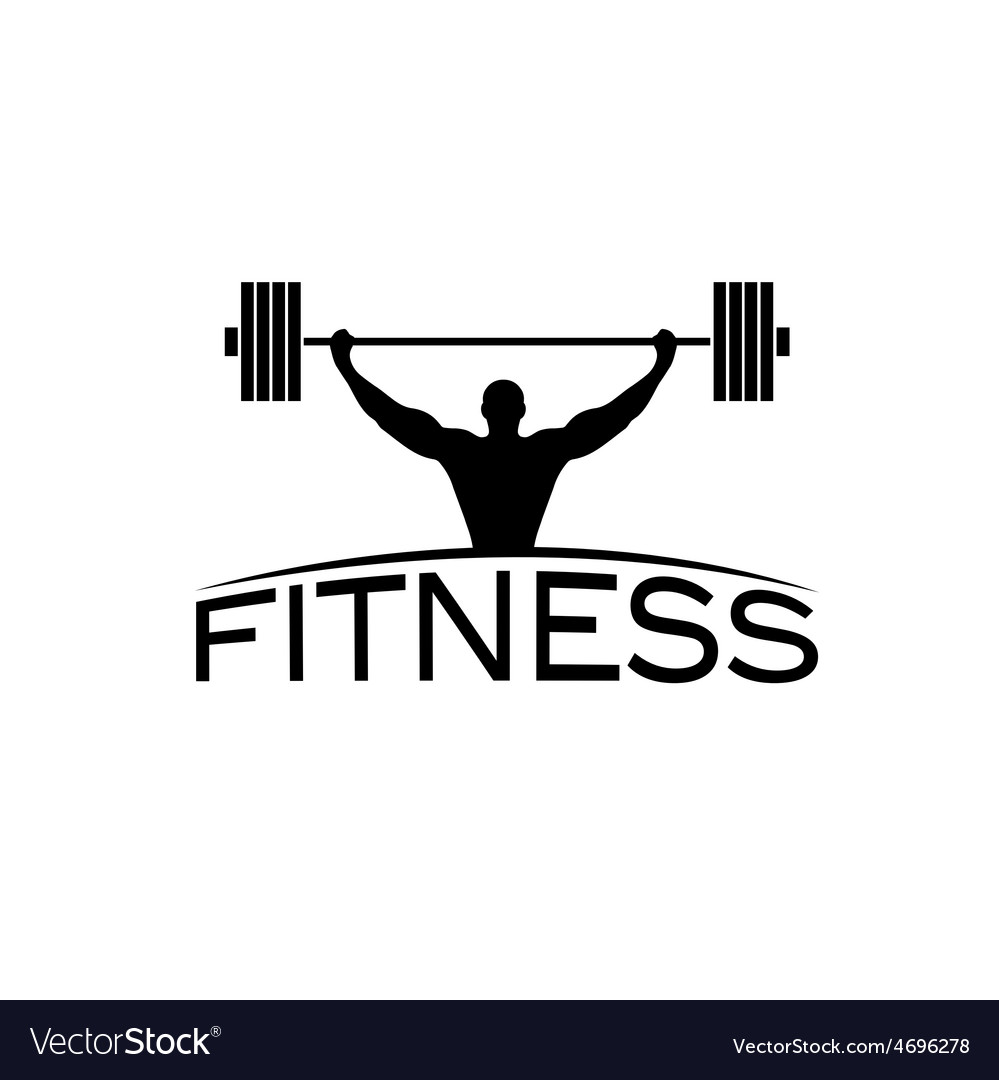 Bodybuilder fitness model with barbell silhouette vector   Price: 1 Credit (USD $1)