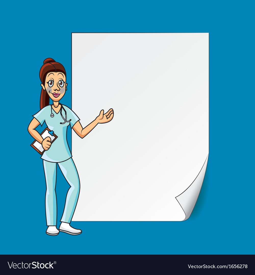 Cartoon doctor blank paper vector | Price: 1 Credit (USD $1)