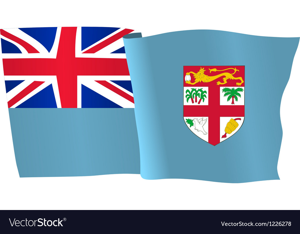 Flag of fiji vector | Price: 1 Credit (USD $1)