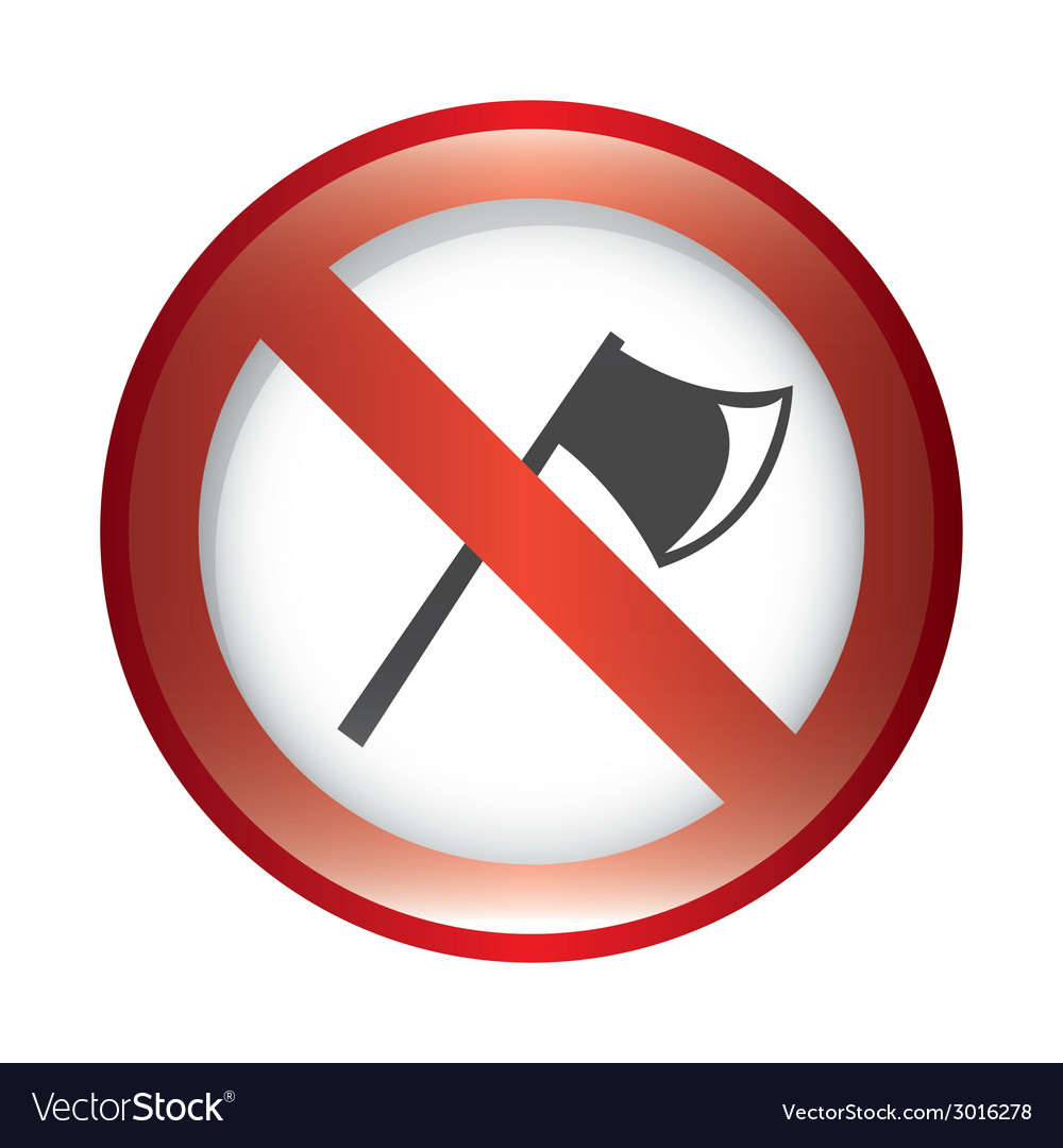 Forbidden ax design vector | Price: 1 Credit (USD $1)