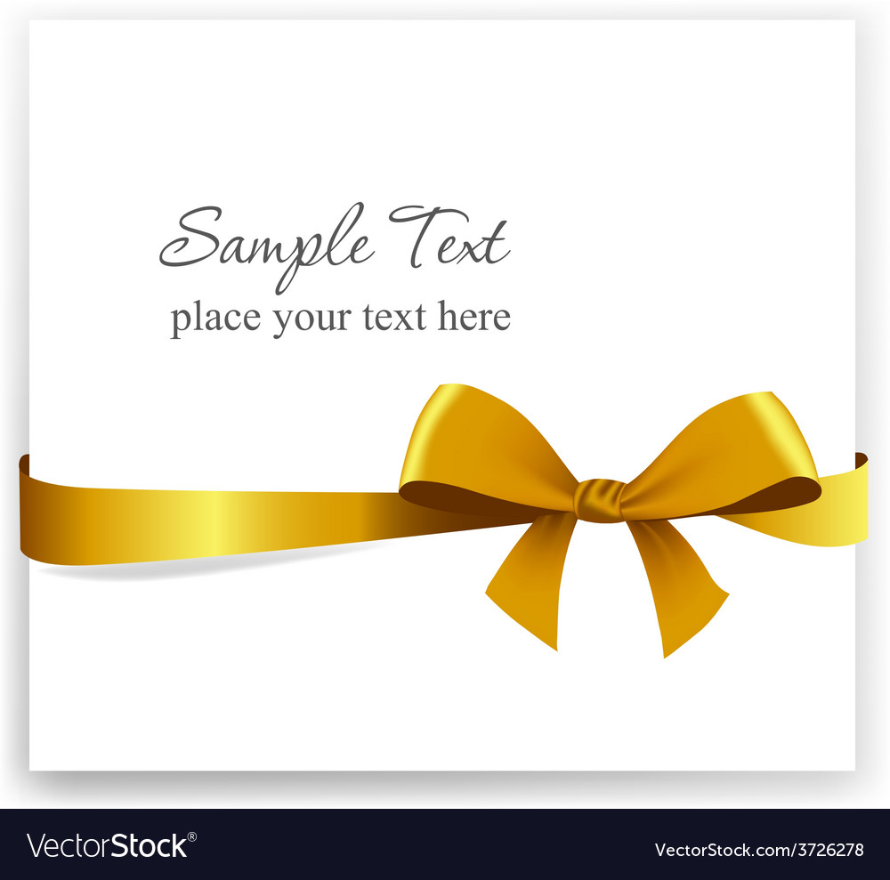 Gold gift bow with ribbons vector | Price: 1 Credit (USD $1)